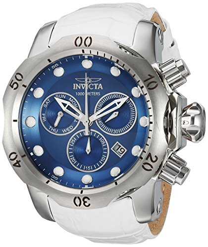 インヴィクタ インビクタ ベノム 腕時計 メンズ 24350 【送料無料】Invicta Men's Venom Stainless Steel Quartz Watch with Leather Calfskin Strap, White, 26 (Model: 24350)インヴィクタ インビクタ ベノム 腕時計 メンズ 24350