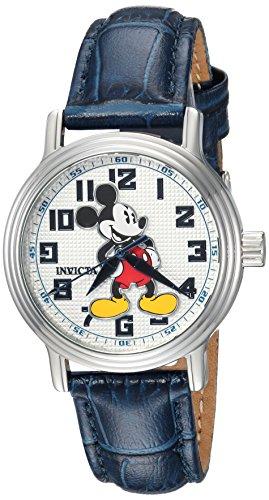 インヴィクタ インビクタ 腕時計 レディース ディズニー 24549 Invicta Women's Disney Limited Edition Stainless Steel Quartz Watch with Leather Calfskin Strap, Blue, 16 (Model: 24549)インヴィクタ インビクタ 腕時計 レディース ディズニー 24549