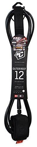 サーフィン リーシュコード マリンスポーツ Creatures of Leisure Outer Reef Shortboard Leash Black Black 12 Feetサーフィン リーシュコード マリンスポーツ