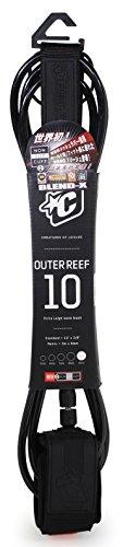 サーフィン リーシュコード マリンスポーツ Creatures of Leisure Outer Reef Shortboard Leash Black Black 10 Feetサーフィン リーシュコード マリンスポーツ