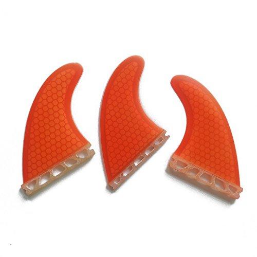 サーフィン フィン マリンスポーツ UPSURF Surfboard 3 Fin Future M Size Fiberglass+Honeycomb G5 Thruster Set Orangeサーフィン フィン マリンスポーツ