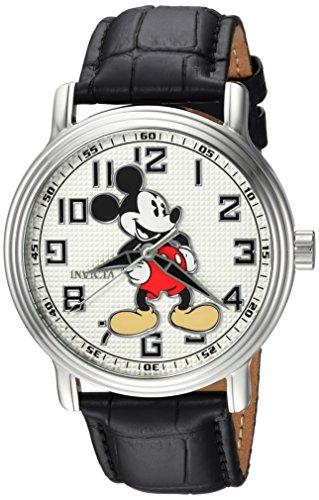インヴィクタ インビクタ 腕時計 メンズ ディズニー 24544 Invicta Men's Disney Limited Edition Stainless Steel Analog-Quartz Watch with Leather Calfskin Strap, Black, 22 (Model: 24544)インヴィクタ インビクタ 腕時計 メンズ ディズニー 24544