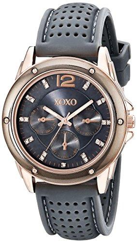 クスクス キスキス 腕時計 レディース XO8077 【送料無料】XOXO Women's XO8077 Grey Bumpy Rubber Analog Watchクスクス キスキス 腕時計 レディース XO8077