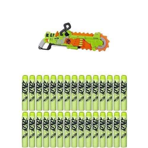 ナーフ ゾンビストライク アメリカ 直輸入 ソフトダーツ Nerf Zombie Strike Brainsaw Blaster with Nerf Zombie Strike 30-Dart Refill Packナーフ ゾンビストライク アメリカ 直輸入 ソフトダーツ