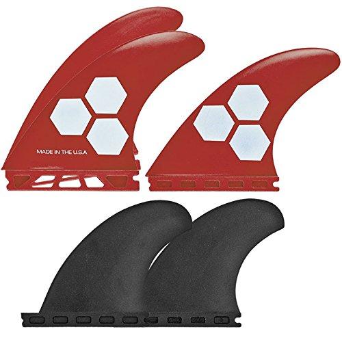 サーフィン フィン マリンスポーツ FSET-1T-GF-M-5DRCB Channel Islands Surfboards Polymer Fin Set with 5 Fins Futures Base, Red/Black, Mediumサーフィン フィン マリンスポーツ FSET-1T-GF-M-5DRCB