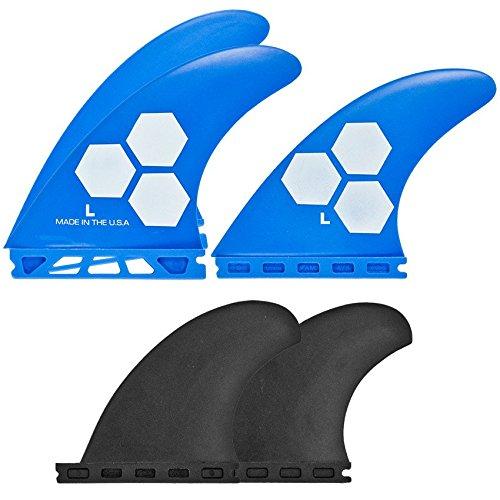 サーフィン フィン マリンスポーツ FSET-1T-GF-L-5BLCB-1 Channel Islands Surfboards Polymer Fin Set with 5 Fins Futures Base, Blue/Black, Largeサーフィン フィン マリンスポーツ FSET-1T-GF-L-5BLCB-1