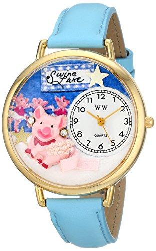 気まぐれな腕時計 かわいい プレゼント クリスマス ユニセックス WHIMS-G0110014 Whimsical Watches Unisex G0110014 Swine Lake Baby Blue Leather Watch気まぐれな腕時計 かわいい プレゼント クリスマス ユニセックス WHIMS-G0110014