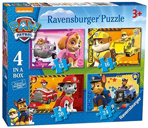 パウパトロール アメリカ直輸入 英語 バイリンガル育児 おもちゃ 【送料無料】Paw Patrol 4 in a Box Puzzles 12 16 20 24 Ages 3+パウパトロール アメリカ直輸入 英語 バイリンガル育児 おもちゃ