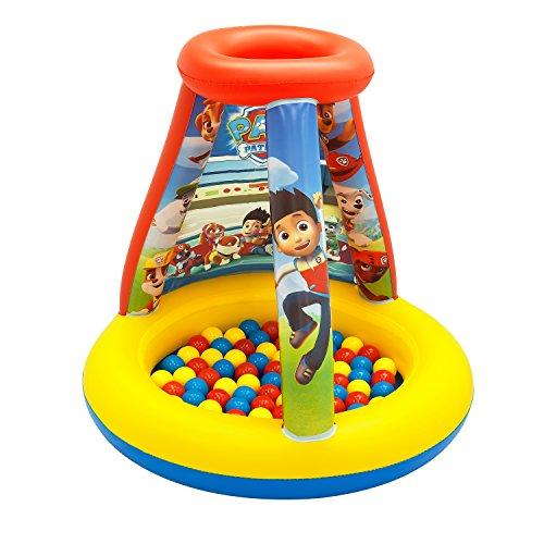 パウパトロール アメリカ直輸入 英語 バイリンガル育児 おもちゃ 8914 【送料無料】Paw Patrol To The Lookout Ball Pit, 1 Inflatable & 15 Sof-Flex Balls, Yellow/Red, 28