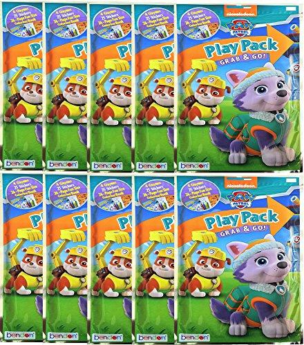 パウパトロール アメリカ直輸入 英語 バイリンガル育児 おもちゃ 【送料無料】Paw Patrol Play Pack Grab and Go Coloring Book , Stickers and Crayons , Bundle of 10 Packs , Children's Partパウパトロール アメリカ直輸入 英語 バイリンガル育児 おもちゃ