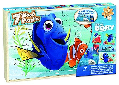 アナと雪の女王 アナ雪 ディズニープリンセス フローズン Finding Dory 7 Wood Puzzle Box 【送料無料】Disney Finding Dory 7 Wood Puzzles in Wooden Storage Box (Stylアナと雪の女王 アナ雪 ディズニープリンセス フローズン Finding Dory 7 Wood Puzzle Box