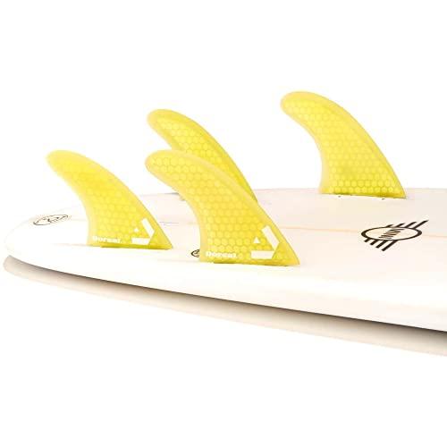 サーフィン フィン マリンスポーツ 夏のアクティビティ特集 VENTRAL-HS5-FC4-Yellow Dorsal Surfboard Fins Hexcore Quad Set (4) Honeycomb FCS Base Yellowサーフィン フィン マリンスポーツ 夏のアクティビティ特集 VENTRAL-HS5-FC4-Yellow
