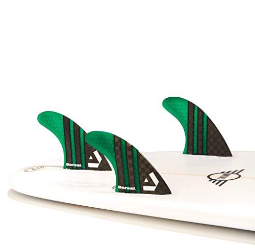 サーフィン フィン マリンスポーツ VENTRAL-CS5-FC3-Green Dorsal Carbon Hexcore Thruster Surfboard Fins (3) Honeycomb FCS Base Greenサーフィン フィン マリンスポーツ VENTRAL-CS5-FC3-Green