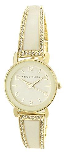 アンクライン 腕時計 レディース Anne Klein Women's Cream Dial Gold Tone Metal Bangle Bracelet Watch AK/2582IVGBアンクライン 腕時計 レディース