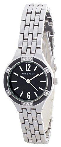 アンクライン 腕時計 レディース 【送料無料】Anne Klein Women's Black Dial Silver Tone Metal Bracelet Watch AK/2573BKSVアンクライン 腕時計 レディース