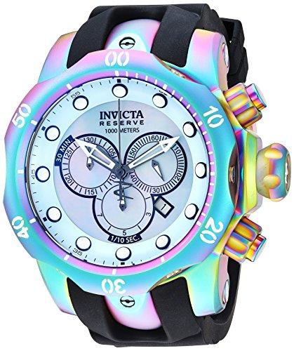 インヴィクタ インビクタ リザーブ 腕時計 メンズ Invicta Men's Venom Stainless Steel Quartz Silicone Strap, Black, 24 Casual Watch (Model: 24062)インヴィクタ インビクタ リザーブ 腕時計 メンズ