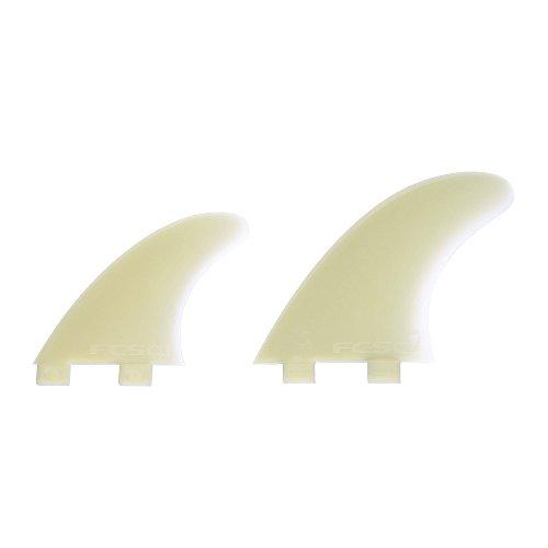 サーフィン フィン マリンスポーツ 【送料無料】FCS Q-5XC Glass Flex Surfboard Quad Fin Set (M5 With GX Centers) - Clearサーフィン フィン マリンスポーツ