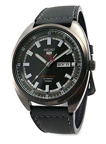 セイコー 腕時計 メンズ Seiko 5 'Turtle' Sports 100M Automatic Limited Edition Black PVD Calf Leather SRPB73K1, Greyセイコー 腕時計 メンズ