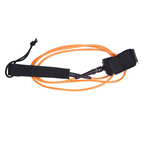 サーフィン リーシュコード マリンスポーツ 2pcs Surfboard Leashes, Surf Leash With Hook and Loop Closure Metal Double Swivels TPU 6ft 5.5mm For Standup Paddle Leash Accessories (orange)サーフィン リーシュコード マリンスポーツ