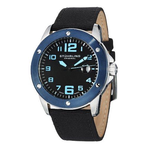 ストゥーリングオリジナル 腕時計 メンズ 463.33UBO1 Stuhrling Original Men's 463.33UBO1 Pilot Ace Date Blackストゥーリングオリジナル 腕時計 メンズ 463.33UBO1