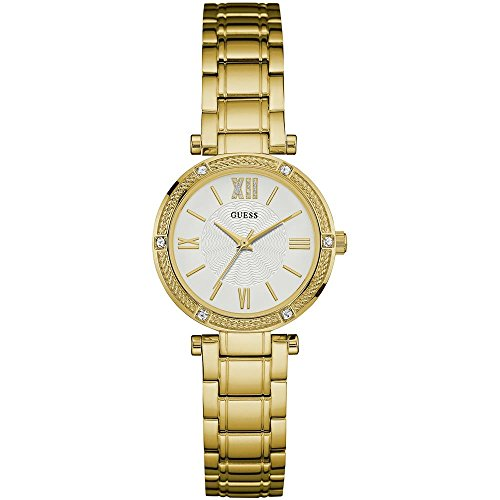 ゲス GUESS 腕時計 レディース W0767L2 Guess Women's Park Ave South 30mm Gold-Tone Steel Bracelet & Case Quartz White Dial Analog Watch W0767L2ゲス GUESS 腕時計 レディース W0767L2