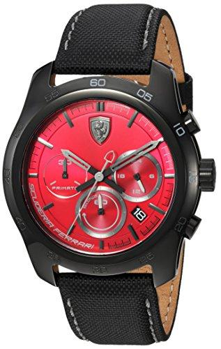 フェラーリ 腕時計 メンズ 830447 Ferrari Men's PRIMATO Stainless Steel Quartz Watch with Nylon Strap, Black, 22 (Model: 830447)フェラーリ 腕時計 メンズ 830447
