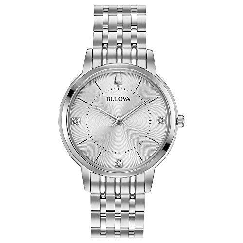 ブローバ 腕時計 レディース 96P183 【送料無料】Bulova Women's Diamonds Quartz Watch with Stainless-Steel Strap, Silver, 14 (Model: 96P183)ブローバ 腕時計 レディース 96P183