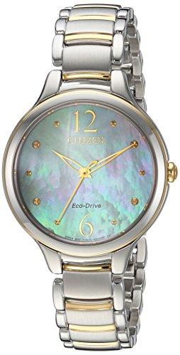 シチズン 逆輸入 海外モデル 海外限定 アメリカ直輸入 EM0554-58N Citizen Women's 'Eco-Drive' Quartz Stainless Steel Casual Watch, Color:Two Tone (Model: EM0554-58N)シチズン 逆輸入 海外モデル 海外限定 アメリカ直輸入 EM0554-58N