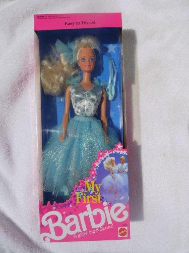 バービー バービー人形 日本未発売 Barbie My First in Pale Blue Easy-to-Dress Glittering Ballerina Costume (1991)バービー バービー人形 日本未発売