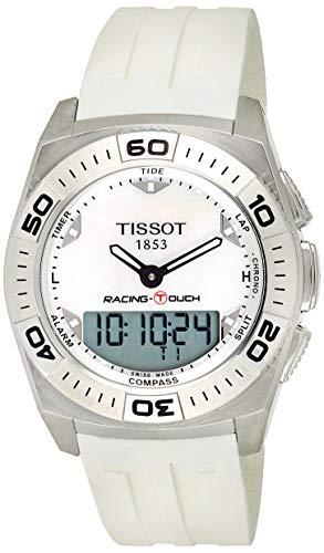 ティソ 腕時計 メンズ T002.520.17.111.00 【送料無料】Tissot Men's T002.520.17.111.00 White Mother-Of-Pearl Dial Racing Touch Watchティソ 腕時計 メンズ T002.520.17.111.00