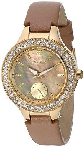 インヴィクタ インビクタ 腕時計 レディース 24556 【送料無料】Invicta Women's Wildflower Stainless Steel Quartz Watch with Leather Calfskin Strap, Beige, 16 (Model: 24556)インヴィクタ インビクタ 腕時計 レディース 24556