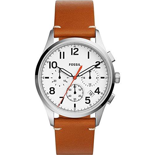 フォッシル 腕時計 メンズ FS5360 【送料無料】Fossil Men's Vintage 54 Chrono Timer Stainless Steel Quartz Watch with Leather Calfskin Strap, Brown, 22 (Model: FS5360)フォッシル 腕時計 メンズ FS5360