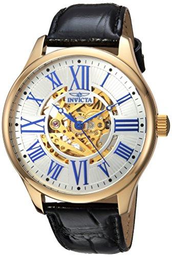 インヴィクタ インビクタ 腕時計 メンズ 23635 【送料無料】Invicta Men's Vintage Stainless Steel Automatic-self-Wind Watch with Leather Calfskin Strap, Black, 22 (Model: 23635)インヴィクタ インビクタ 腕時計 メンズ 23635
