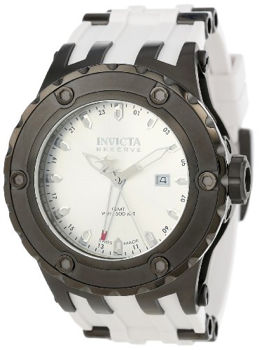 インヴィクタ インビクタ サブアクア 腕時計 メンズ 12047 【送料無料】Invicta Men's 12047 Subaqua Reserve GMT Silver Dial White Rubber Watchインヴィクタ インビクタ サブアクア 腕時計 メンズ 12047