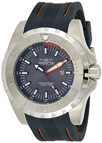 インヴィクタ インビクタ プロダイバー 腕時計 メンズ 23737 Invicta Men's Pro Diver Stainless Steel Quartz Watch with Polyurethane Strap, Grey, 26 (Model: 23737)インヴィクタ インビクタ プロダイバー 腕時計 メンズ 23737