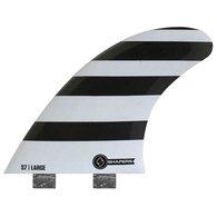 サーフィン フィン マリンスポーツ SHAPERS FINS FCS CORE LITE S7 WHITE/BLACK ZEBRA THRUSTERサーフィン フィン マリンスポーツ