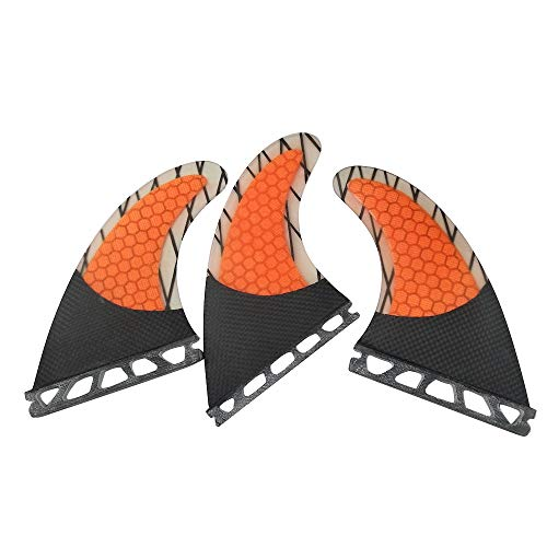 サーフィン フィン マリンスポーツ 【送料無料】UPSURF Surfboard fins Future G7/G5 Honeycomb+Carbon+Fiberglass Tri fins (Orange G7)サーフィン フィン マリンスポーツ