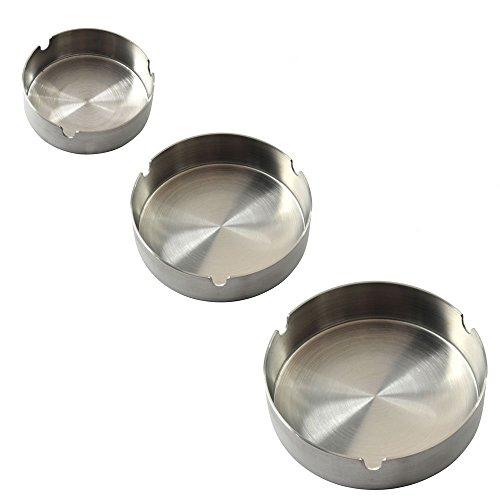 灰皿 海外モデル アメリカ 輸入物 Set of 3 Stainless Steel Ashtray灰皿 海外モデル アメリカ 輸入物