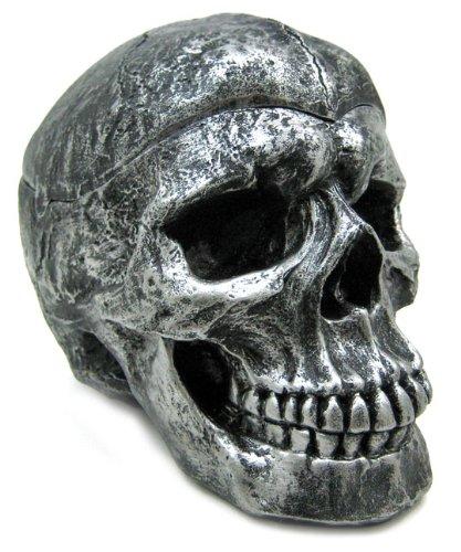 灰皿 海外モデル アメリカ 輸入物 Creepy Silvered Skull Ashtray Trinket / Stash Box灰皿 海外モデル アメリカ 輸入物