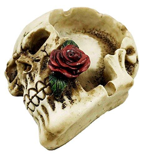 灰皿 海外モデル アメリカ 輸入物 Ghastly Romantic Red Rose Skull Cigaretter Ashtray Resin Figurine Skeleton灰皿 海外モデル アメリカ 輸入物