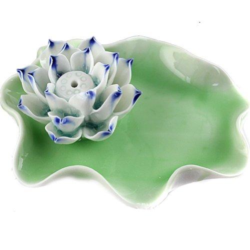 灰皿 海外モデル アメリカ 輸入物 Ushoppingcart Elegant and Decorative Lotus / Water Lily Flower Ceramic Incense Holder / Burner/ashtray, Approx. 4.33