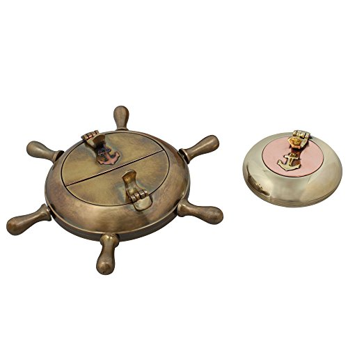 灰皿 海外モデル アメリカ 輸入物 MN-ashtray_set_2 【送料無料】Shalinindia Cigarette Accessories Brass Metal Set of Two Ashtrays Indoors Home Decor Indian灰皿 海外モデル アメリカ 輸入物 MN-ashtray_set_2