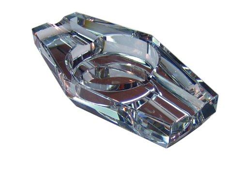 灰皿 海外モデル アメリカ 輸入物 ASH2C 【送料無料】Prestige Import Group 2 Cigar Hexagon Crystal Ashtray in Gift Box灰皿 海外モデル アメリカ 輸入物 ASH2C