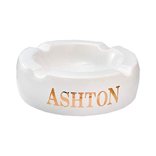 灰皿 海外モデル アメリカ 輸入物 【送料無料】Ashton Large Cigar Ashtray - White - 4 Cigars - Ceramic - 8 1/4' diameter灰皿 海外モデル アメリカ 輸入物