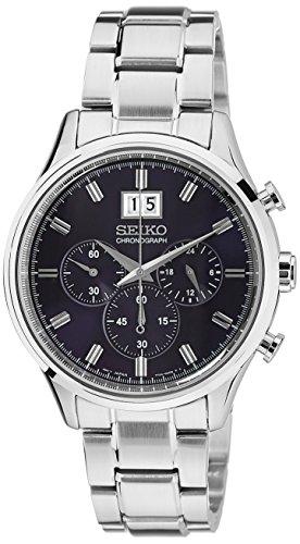 セイコー 腕時計 メンズ Chronograph Seiko Chronograph Metallic Blue Dial Stainless Steel Mens Watch SPC081セイコー 腕時計 メンズ Chronograph