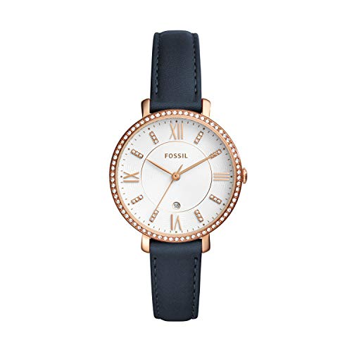 フォッシル 腕時計 レディース ES4291 【送料無料】Fossil Women's Jacqueline Stainless Steel Quartz Watch with Leather Calfskin Strap, Blue, 14 (Model: ES4291)フォッシル 腕時計 レディース ES4291