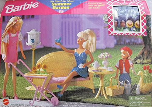 春先取りの バービー バービー人形 日本未発売 Faux プレイセット FURNITURE アクセサリ BARBIE More So Real So Now SUMMER GARDEN Playset w Faux WICKER FURNITURE & Lots More (1998 Arcotoys, Mattel)バービー バービー人形 日本未発売 プレイセット アクセサリ, jeans deco/ジーンズ デコ:f6ac4665 --- canoncity.azurewebsites.net