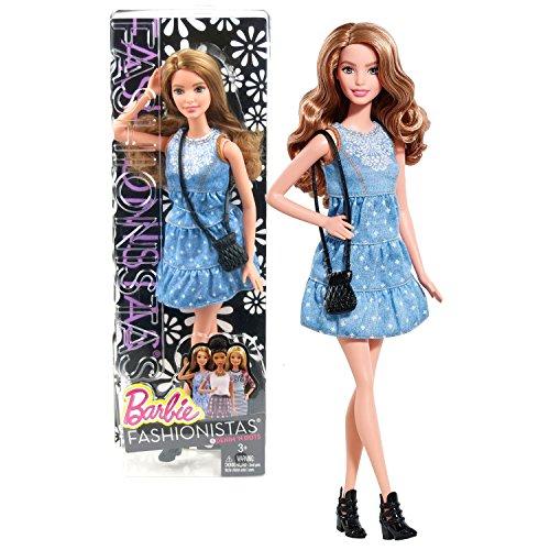 バービー バービー人形 ファッショニスタ 日本未発売 Mattel Year 2014 Barbie Fashionistas Series 12 Inch Doll Set - #8 Denim 'N Dots SUMMER (CLN67) in Blue Denim Dress with Purseバービー バービー人形 ファッショニスタ 日本未発売