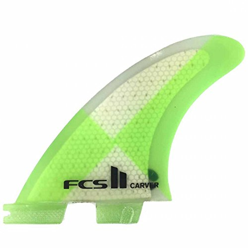 サーフィン フィン マリンスポーツ FCS II Carver Performance Core Surfboard Tri Fin Set - Mediumサーフィン フィン マリンスポーツ