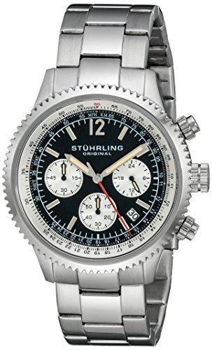 ストゥーリングオリジナル 腕時計 メンズ 669B.01 【送料無料】Stuhrling Original Men's 669B.01 Monaco Date Stainless Steel Link Bracelet Watchストゥーリングオリジナル 腕時計 メンズ 669B.01
